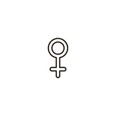 female icon. sign design