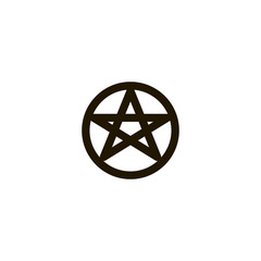 pentacle icon. sign design