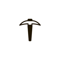 pickaxe icon. sign design