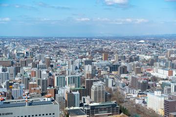札幌の都心部を見下ろす
