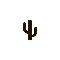 cactus icon. sign design
