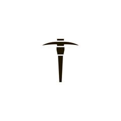 pick axe icon. sign design