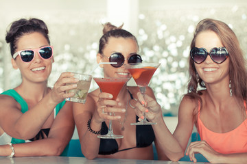Women with beverages