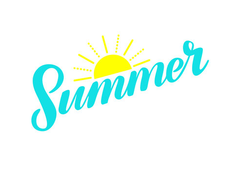Hand Lettering Summer with Sun