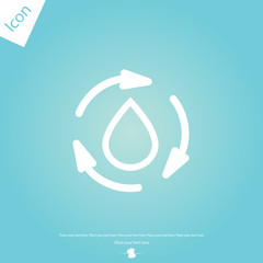 Cycle water icon