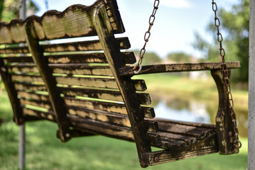 Backyard Bench Swing