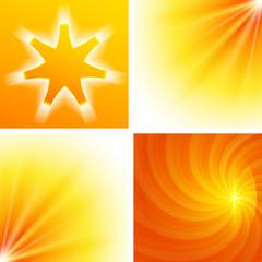 Set background Design elements glow light effect08