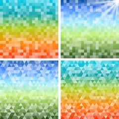Set background Design elements glow light effect11