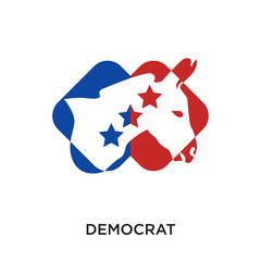 democrat logo isolated on white background for your web, mobile and app design
