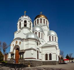 Famous Alexander Nevsky orthodox church in Kamianets-Podilskyi, Ukraine.
