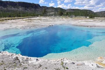 Sapphire Pool in Yellowstone.