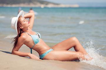 Beautiful woman in bikini on a vacation