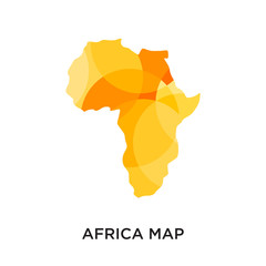 africa map logo isolated on white background for your web, mobile and app design