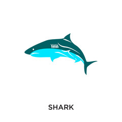 logo shark isolated on white background for your web, mobile and app design
