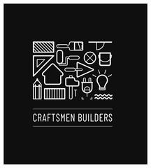 logo pour un artisan spécialisé dans la rénovation, la construction, l'électricité, la peinture, le plâtre