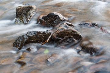 closeup of river on long exposure