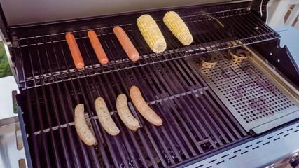 Hot dogs and bratwurst