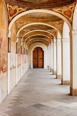 Small Colonnade at the Benedictine Monastery on the White Mountain in Prague