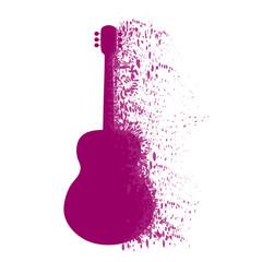 Vector illustration of guitar on white background.