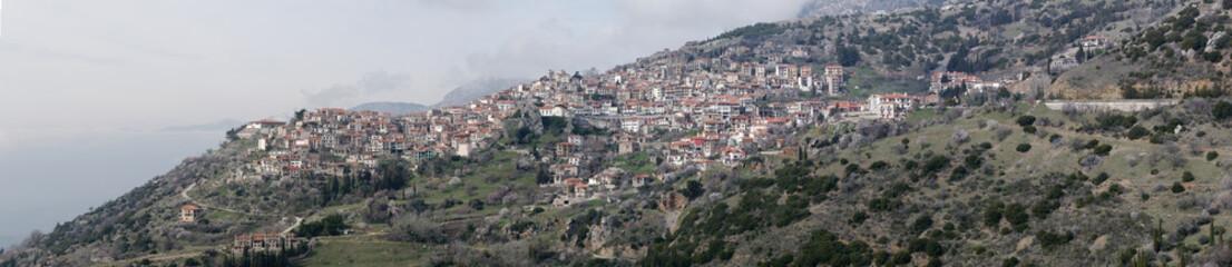 View of the city of Arachova, Greece