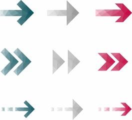original arrows on white background