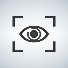 Eye Focus Flat Icon, Vector Illustration isolated on modern background.