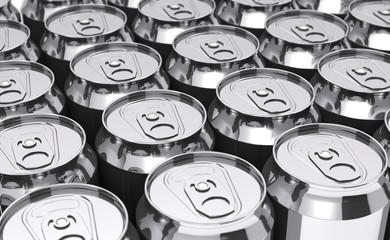 Beer cans (3d illustration).