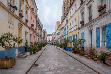 Rue pittoresque et colorée de Paris