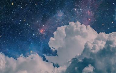 Space Clouds Art Background Vintage Colors Wallpaper  Fototapete