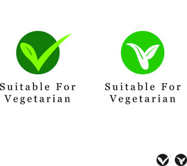 Suitable for Vegetarian Symbol - Vegan Friendly Food Icon