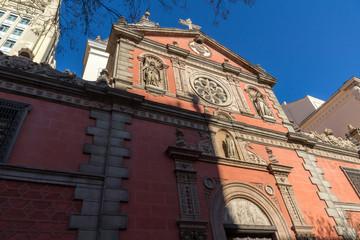 Church of Calatravas at Alcala Street in City of Madrid, Spain