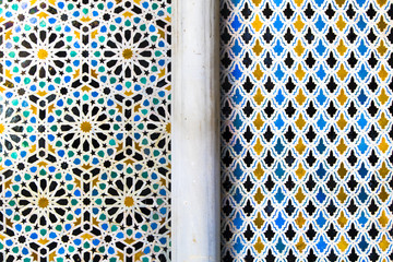 colored tiles morocco