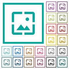 Wallpaper image flat color icons with quadrant frames