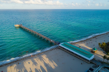 Sunny Isles Beach fishing pier aerial image