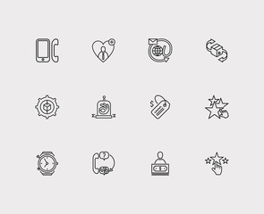 Customer service icons set. Support and customer service icons with delivery, star and quality. Set of businessman for web app logo UI design.