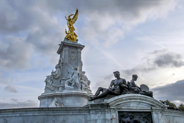 London, UK, 30 October 2012: The Queen Victoria Memorial