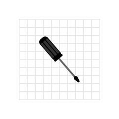 Screwdriver icon. Vector Illustration
