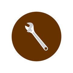 Wrench icon. Vector Illustration