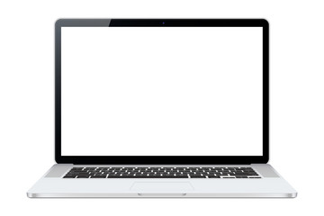 Laptop isolated on white background. Vectror illustration. To present your application and web design.