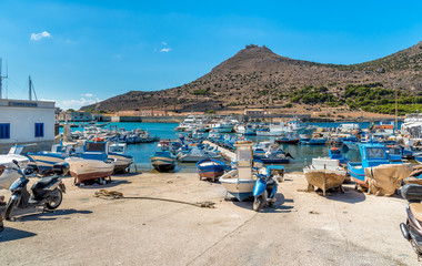 Printed kitchen splashbacks City on the water The Port of Favignana is the only port of the homonymous island, is the largest of the three Aegadian islands in the Mediterranean sea of Sicily.