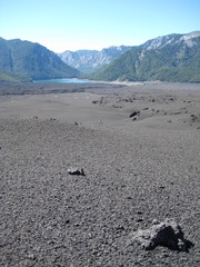 lava rock to lake