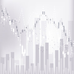 Financial market investment trading background.
