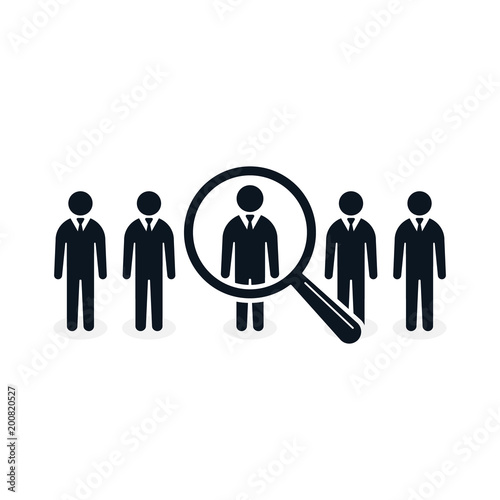 Search For Employee And Job, Business, Human Resource. Looking For Talent.  Search