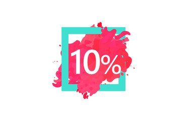 10 Percent Discount Number Water Color Frame