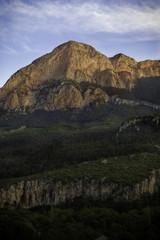 Evening view of Mountain Peak Geyikbayiri Antalya