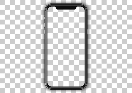 iphone screen template. mockup realistic smartphone frame design.