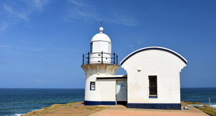 Tacking Point Lighthouse is Australia's thirteenth oldest lighthouse at Port Macquarie, NSW, Australia. It was built on a rocky headland.