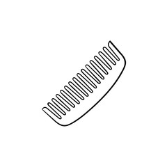 Comb hand drawn outline doodle icon. Hair comb vector sketch illustration for print, web, mobile and infographics isolated on white background.