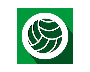 volleyball green sports equipment tool utensil image vector
