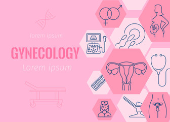 Gynecology flat banner